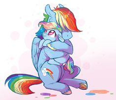 Rainbow Dash had scooped Silver up in her arms and was hugging her tightly. Sad My Little Pony, My Little Pony Cartoon, My Little Pony Drawing, My Little Pony Pictures, My Little Pony Friendship, Rainbow Dash And Soarin, Mlp Pony, Pony Pony, Cartoon As Anime