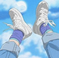 Image discovered by Find images and videos about anime, shoes and aesthetic on We Heart It - the app to get lost in what you love. Aesthetic Images, Aesthetic Collage, Retro Aesthetic, Aesthetic Anime, Aesthetic Drawings, Blue Aesthetic Grunge, Urban Aesthetic, Animes Wallpapers, Cute Wallpapers