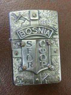 Zippo lighter Bosnia SFOR COOP vintage war zippo military