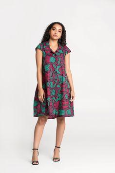 Mid Length Dresses, Short Sleeve Dresses, African Clothes, Oversized Dress, Loose Shirts, Work Wear, Shirt Dress, Casual, Model