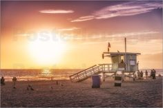 #SantaMonica Sunset   #Posterlounge – online shop for #posters, #artprints, and #wall pictures.