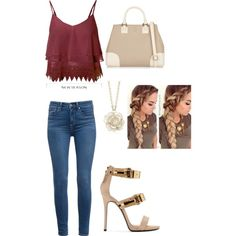 A fashion look from January 2015 featuring Paige Denim jeans, Giuseppe Zanotti sandals and Tory Burch tote bags. Browse and shop related looks.