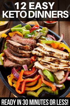 Easy low carb chicken, fish, shrimp or keto friendly beef, pork, steak or hamburger! Awesome keto diet recipes ready to eat in 30 minutes or less! #keto #ketorecipes #ketodiet #ketogenic #ketogenicdiet #lowcarb #weightlossrecipes #LCHF Easy Pork Dinner Recipes, Ketogenic Dinner Recipes, Ketogenic Meals, Keto Dinner, Keto Foods, Paleo Diet, Baking Recipes, Low Carb Recipes, Cake Recipes