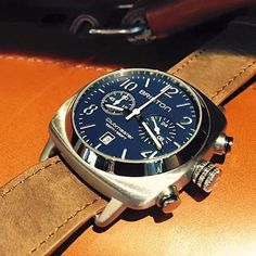 #mybriston #timepiece #menstyle #watch #briston #clubmaster #classic #steel chronograph #navyblue dial ©Fancy Enough