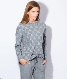 Pyjama 2 pièces, haut imprimé coeurs - OWEN - GRIS - Etam