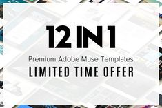 Adobe Muse Pack - 12 Templates +  by OlehLila on @creativemarket
