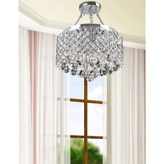 Chrome Finish 4-light Round Chandelier - Overstock Shopping - Great Deals on The Lighting Store Chandeliers & Pendants
