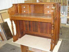 pioano upcycle | Repurposed Piano Upcycled 1890's Story Clark Pump Organ Writing Desk ...