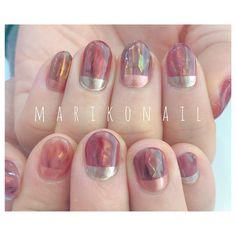 mariko moriさんはInstagramを利用しています:「#marikonail #Instagramをみて #トレンドネイル #パラジェル #秋ネイル #ニュアンスネイル #名古屋ネイル #nail #nails #ネイル #ネイルアート #ジェルネイル #ネイルサロン #ネイルデザイン #個性派ネイル #ショートネイル…」 Nail Ink, Nail Manicure, Diy Nails, Cute Nails, Pretty Nails, Nail Pops, Nail Polish Art, Nail Candy, Stylish Nails