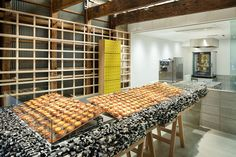The latest outlet of Japanese cheese tart shop Bake displays its wares on a Lego counter made by designer Yusuke Seki Bake Cheese Tart, Cheese Tarts, Baked Cheese, Japanese Cheese Tart, Mim Design, Melbourne House, Beautiful Interior Design, Retail Design, Store Design