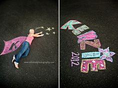 sidewalk chalk ;) cute idea for kids