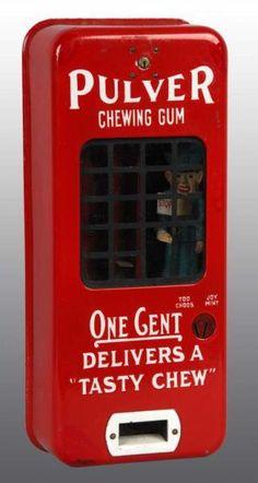 Pulver Gum Machine vintage rcoinop