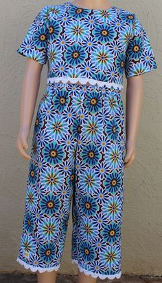 Blue Clothing set, Girls summer set,Floral set, Girls clothing, Kids clothing set, Two piece, Cotton clothing, Girls fashion, Matching set by JaxStarClothing on Etsy Summer Set, Summer Girls, Matching Set, Outfit Sets, Kids Clothing, Kids Outfits, Girl Fashion, Trending Outfits, Floral