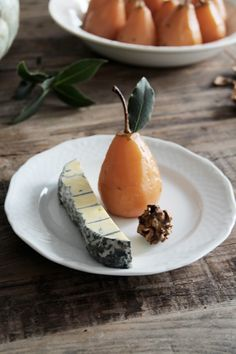 chai roasted pear wt blue cheese / recipe