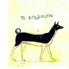 basenji art- that shows that Basenjis are egytain dogs.