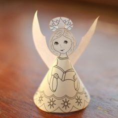 Cute printable Angel to print, cut and color.