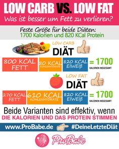 Auf Kohlenhydrate verzichten ist ein Muss? Macht Fett gleich fett? ProBabe klärt mit den Mythen rund um die Makronährstoffe auf! Die Kalorienbilanz zählt. #abnehmen #deineletztediät #erfolg #abnehmen2017 #diät #fatloss #weightloss #howtodiet #howto #infographic #probabe