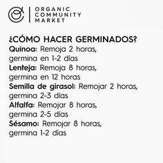 Como hacer germinados Eating Light, Clean Eating, Raw Food Recipes, Healthy Recipes, Salty Foods, Nutrition Classes, Sin Gluten, Vegan Life, Going Vegan