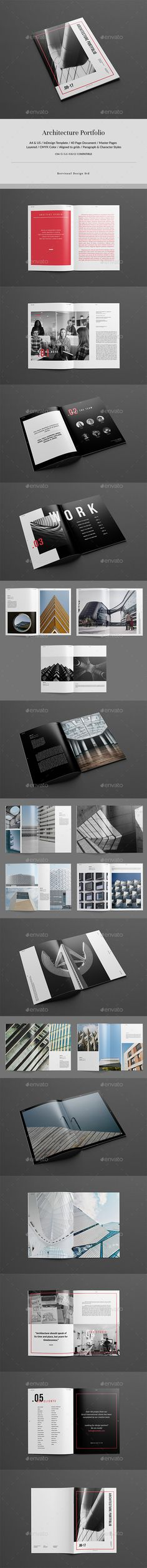 Architecture Portfolio Brochure Template InDesign INDD
