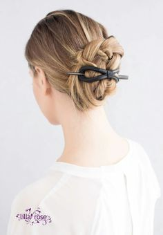 Braided bun with leather 8
