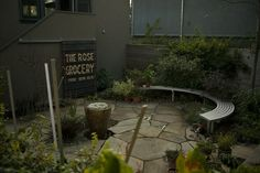 Shirley Alexandra Watts Design and Installation provides landscape design and architecture services in the San Francisco Bay Area Rose Street, Bay Area, Landscape Design, Garden Ideas, The Outsiders, Landscaping, Bench, Patio, Architecture