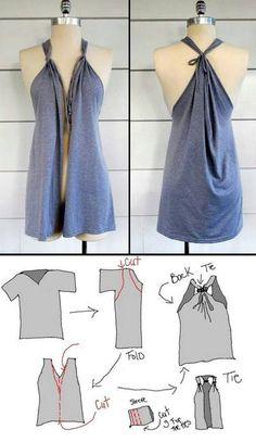 DIY T-Shirt Vest