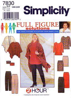 Simplicity Sewing Pattern 7830 Women's Plus Size Tunic Skirt Pants Poncho patterns size patterns Tunic Sewing Patterns, Plus Size Sewing Patterns, Sewing Blouses, Tunic Pattern, Sewing Stitches, Simplicity Sewing Patterns, Clothing Patterns, Skirt Patterns, Coat Patterns