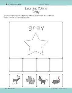 gray worksheet preschool crafts pinterest colors journals and worksheets. Black Bedroom Furniture Sets. Home Design Ideas