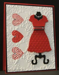Dress Up Valentine by Auntie Susan - Cards and Paper Crafts at Splitcoaststampers