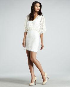 Lace Dolman Sleeve Dress - Lyst- longer tho