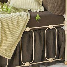 Linen Crib Skirt in Choice of Col from PoshTots