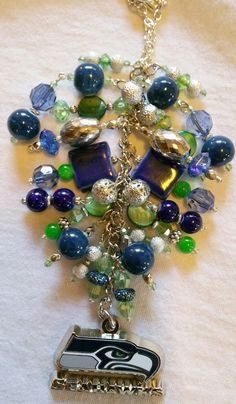 Seahawks Purse Charm    ~ available at https://www.etsy.com/shop/magic365