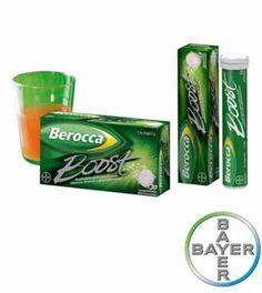 BEROCCA BOOST COMP EFERVESC 30 COMP 14,00 €  Berocca Boost es una combinación específica de Vitaminas, Minerales esenciales y Guaraná natural. Favorece la atención, la concentración y la memoria rápidamente y justo cuando se necesita.