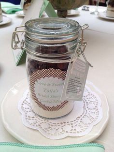 Cookie mix recipe in mason jars for #bridalshower favors