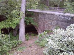 Crow Creek Bridge   Arch bridge over Crow Creek on S. Yorktown Ave. in Tulsa