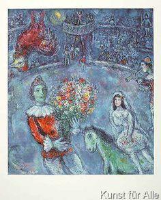 Marc Chagall - Der violette Hahn