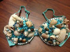 Seashell Mermaid Bra 36C by ravingbeautydesigns on Etsy