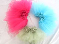 Flower girl tutu skirt. Tea length or by CuddleBlissBoutique, $35.00