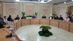 Maryam Rajavi among leaders of the Muslim community in France at a meeting at the NCRI's Headquarter.