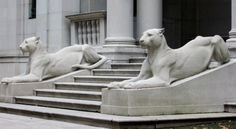 Morgan Library Lions