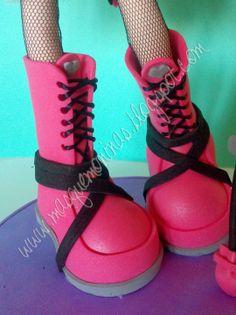 Botas rosa fofucha
