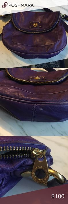 Marc by Marc Jacobs purple cross body Excellent used condition, comes with dust bag. Exterior = small scruffs (see photos), interior = like new! ❤ Marc by Marc Jacobs Bags Crossbody Bags