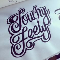 Lettering Daily: Touchy Feely