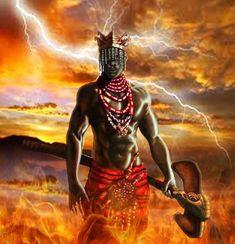 Shango/Xangô, Orisha of thunder. African American Art, African Art, African Culture, American History, Shango Orisha, Shango God, Yoruba Orishas, African Mythology, Black Art Pictures