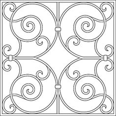 Decorative Faux Wrought Iron window insert / covering design,  enhances the look of any size or style window.  Great for Large Bay windows, door windows, and windows on the front of a home.