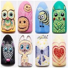 80 simple nail art with dotting tool 80 simple nail art with dotting tool Dotting Tool Designs, Dot Nail Designs, Owl Nail Art, Owl Nails, Nailart Gel, Nail Art Wheel, Cute Pink Nails, Mandala Nails, Nail Art For Beginners