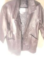 Tian Lee Womens's Large  Leather Jacket-Plum