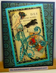 CC467, Lady in Blue by parknslide - Cards and Paper Crafts at Splitcoaststampers