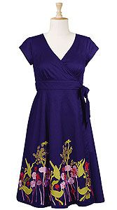 Flora and fauna embroidered wrap dress $37.95
