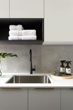 Types Of White Kitchen Splashback Tiles 62 Tiled Splashbacks You Shouldnt Be Afraid To Use In 2019 Verity with regard to Types Of White Kitchen Splashback Tiles Modern Laundry Rooms, Laundry In Bathroom, Bathroom Pink, Small Laundry, Modern Room, Bathrooms, Kitchen Splashback Tiles, Kitchen Soffit, Splashback Ideas